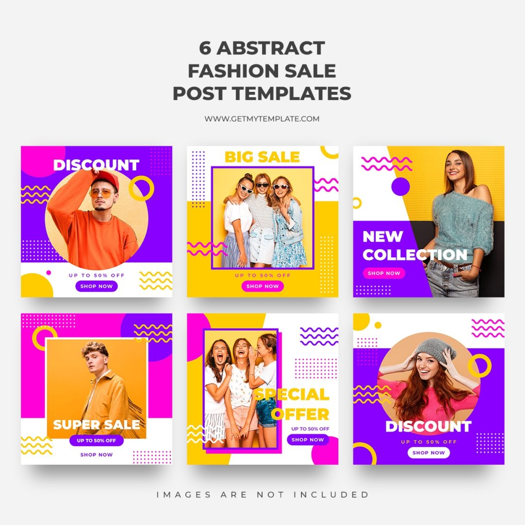 6 free fashion sale post templates